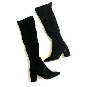Coconuts By Matisse Knee High Black Suede Boots